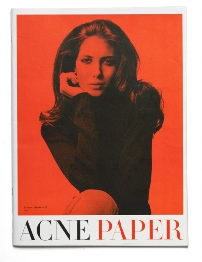 Acne Paper, 1st Issue on the Behance Network #serif #acne #cover #photography #layout #magazine