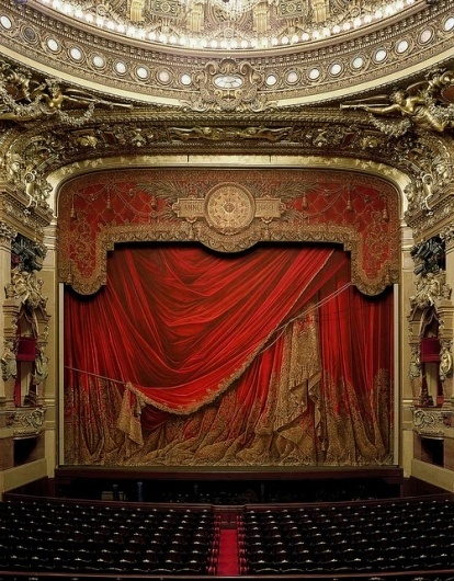 Garnier Opera, Paris, by David Laventi | Flickr - Photo Sharing! #red #theatre
