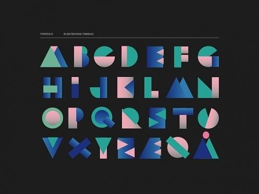 Elektronisk Tirsdag on Typography Served #typography