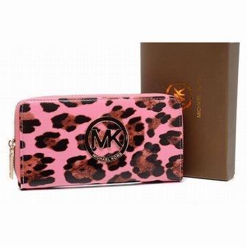 Michael Kors Wallet Leopard Grain Pink #shoes