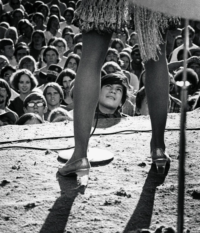 Tina Turner performing at a festival in Lake Amador, Calif., on Oct. 4, 1969. Robert Altman/Michael Ochs Archive/Getty Images