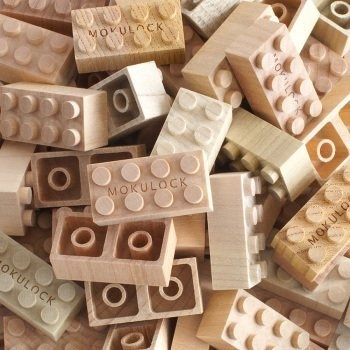 Explore your creativity with these natural wooden building blocks.