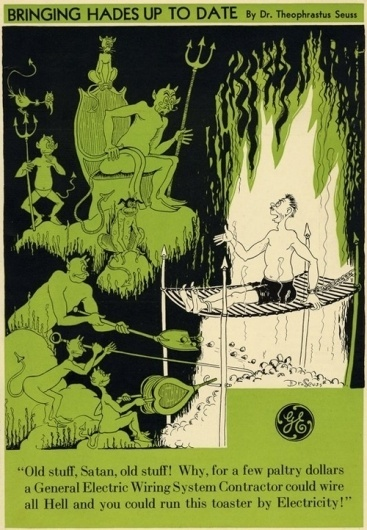 JESS3 - Blog / Dr. Seuss: Before He Drew Great Children's Illustrations, He Drew Great Ads #seuss #cartoon #advertising