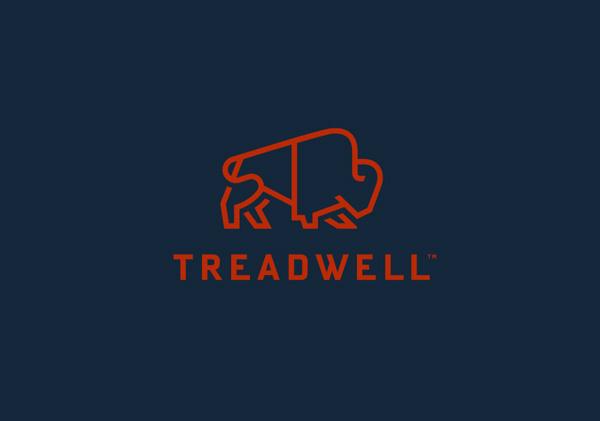 Treadwell designed by Perky Bros #logo #animal #buffalo #stroke #thick