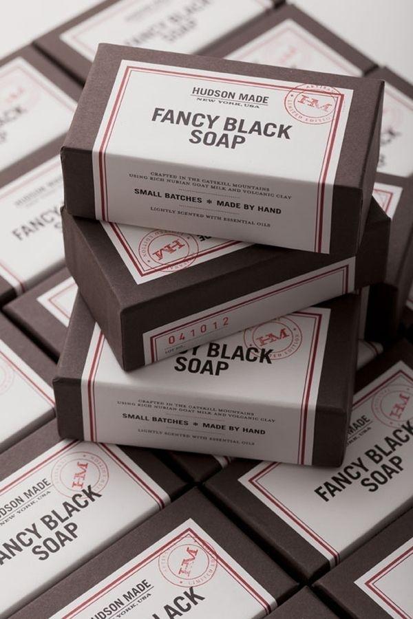 Hudson Made Fancy Black Goat Milk Soap Packaging | Inspiration DE #packaging #fancy