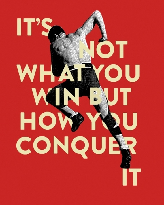 Creative Review - Conqueror's Typographic Games winners #sports #poster #typography