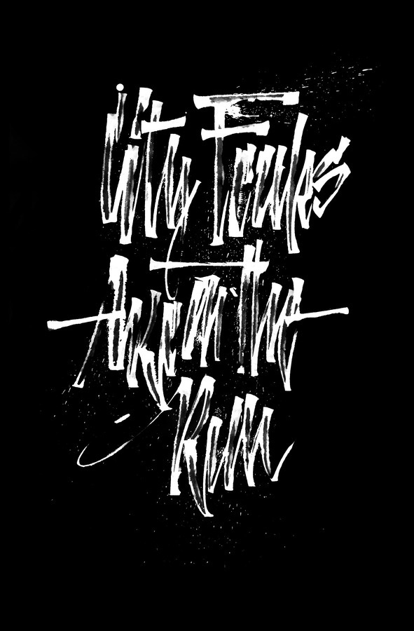 Calligraphi.ca - City Freaks are on the Run - Ruling Pen -Â Misha Karagezyan #calligraphy #karagezyan #calligraphica #misha