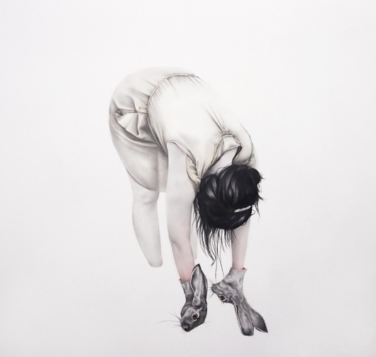 langdongraves.com #graphite #drawing #art #rabbits #bw