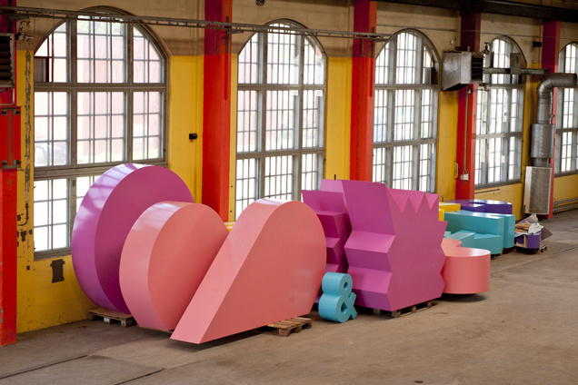 snaks #giant #gigantic #installation #pink #design #graphic #snask #colorful #handmade #art #made #huge #type #hand #typography