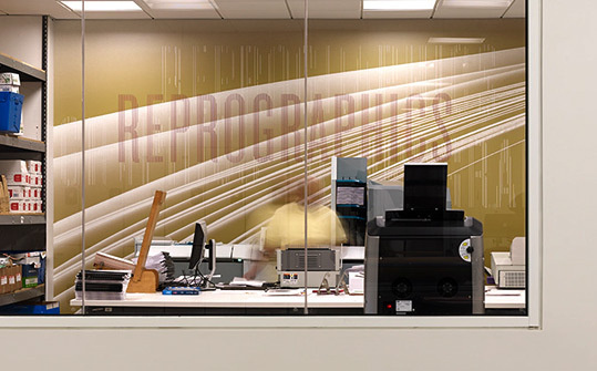 NPR Headquarters. Designed by Poulin + Morris / www.enviromeant.com #graphics #wall