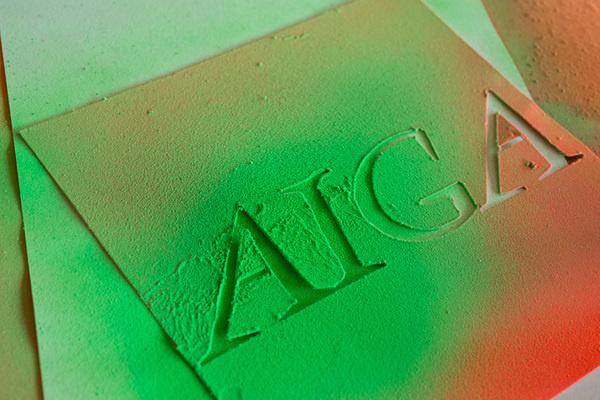 Description #typography #stencil #paint #spray #aiga #green
