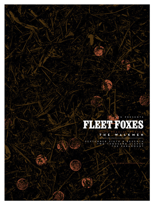 Invisible Creature Speaks » Posters #gig #poster #invisible #fleetfoxes #creature