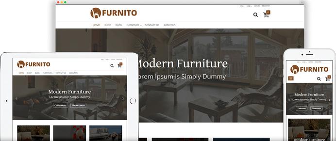 Odoo Furnito Ecommerce Theme, Responsive OpenERP Furniture Theme