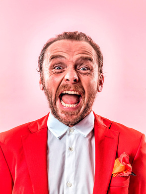 Simon Pegg by PEROU #portraits #celebrity
