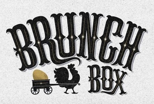 Brunch Box | The Black Harbor #lettering #brunch #design #box #identity #logo