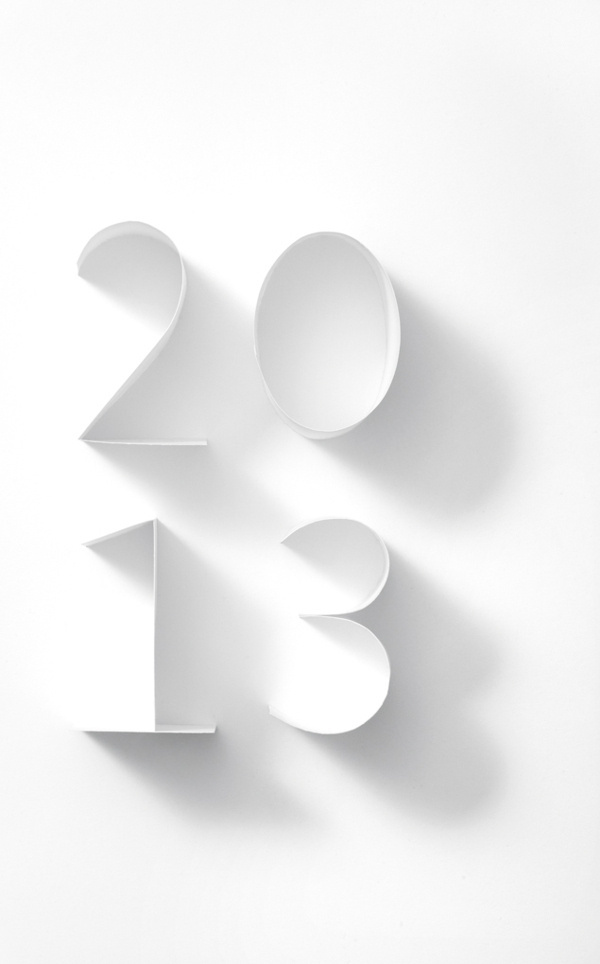 Cartiera Fabriano. Calendario 2013. on Typography Served #typography