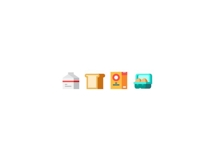 Tiny Ingredients #tiny #egg #icon #food #illustration #minimal