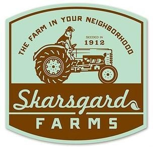 Skarsgard Farms by 3 Advertising #badge #script #retro #illustration #lockup #complicated #vintage #farm #logo