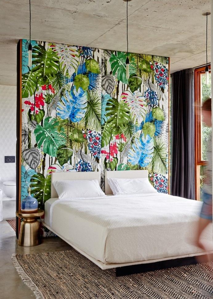 Tropical house nestled amongst treetops