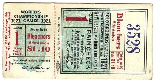 Vintage Baseball Tickets #ticket