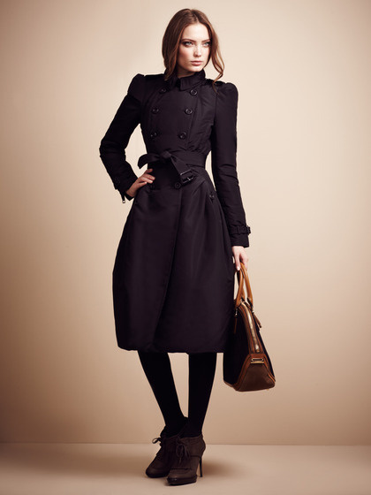 Burberry Prorsum Bow Belted Down Coat #fashion #black #coat