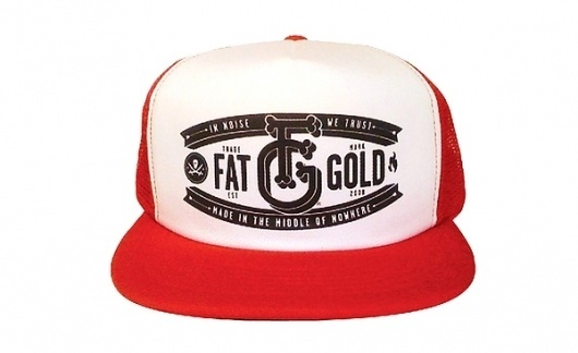 Fat Gold - Clothing on the Behance Network #malta #fatgold #fat #clothing #trucker #nowhere #cap #hat #gold #made #noise