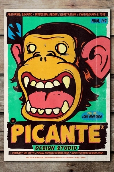 Cobra® (PICANTE POSTERS Design made at Picante Design...) #flyer #monkey #illustration #poster #picante #cobra