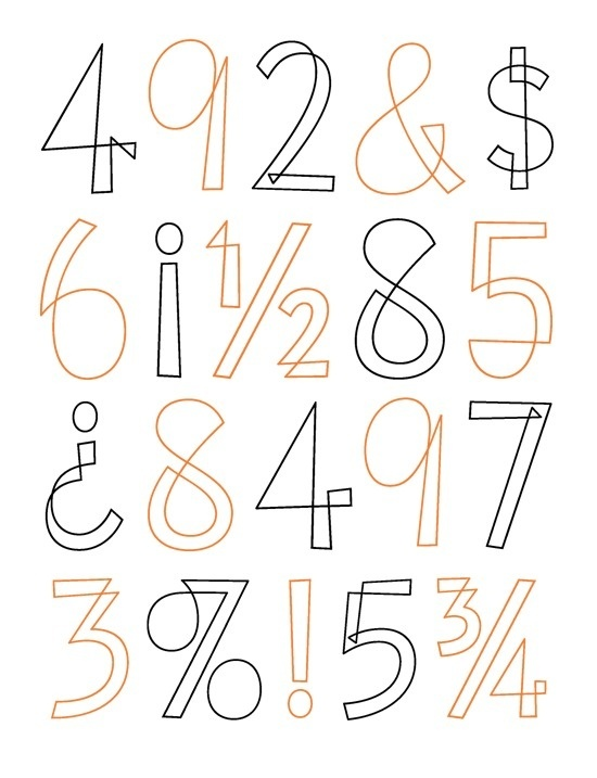 House Industries, Eames Century Modern, Eames Cover Numerals, Eames Numbers Specimen #eames #design #graphic #typography
