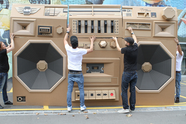 Mini Ghettoblaster #inspiration #abstract #creative #design #unique #sculptures #cool