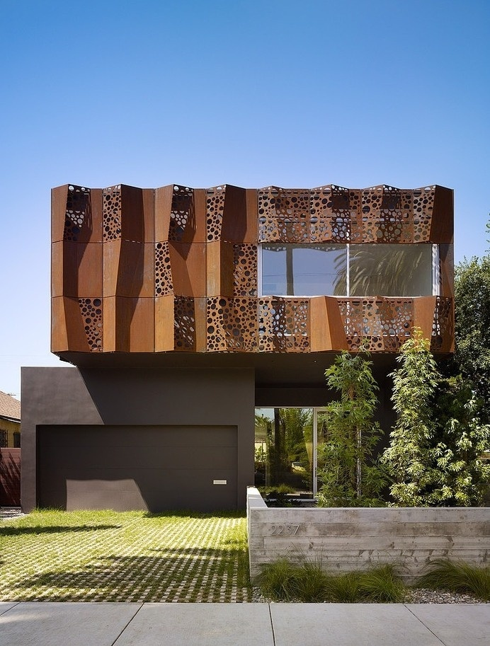 Inspiring Walnut Residence Embodying Unique Perforations #architecture #california