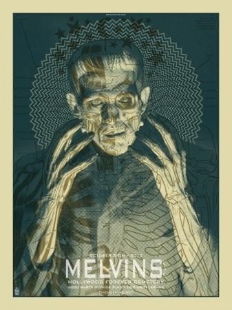 Brian Ewing PORTFOLIO   ROCK POSTERS > MELVINS LITE #poster
