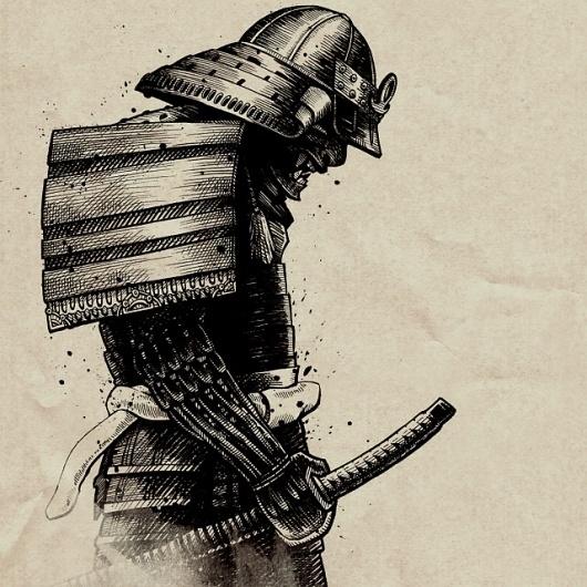 Josh Holland Illustrations #samurai #holland #josh