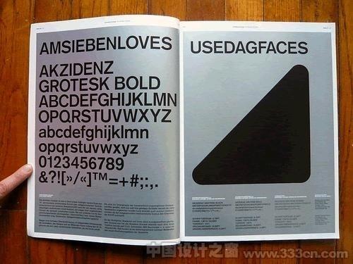 中国设计之窗--国外创新杂志布局和构图设计 #fonts #silver #print #bold #akzidenz #black #type #grotesk #typography