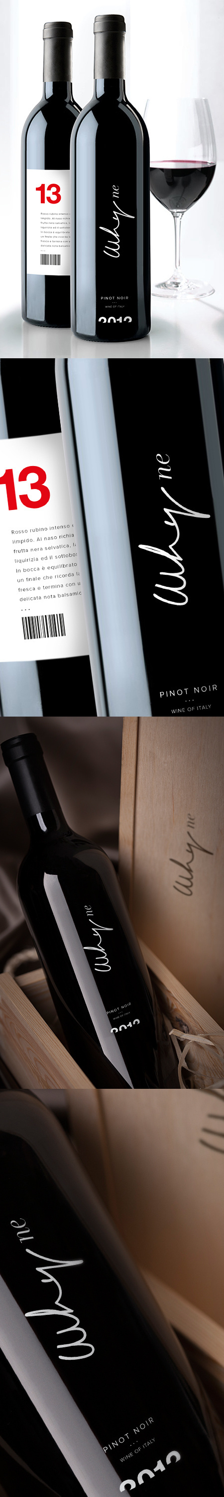 WHYNE wine pinot noir. #packaging #label #wine #whyne #pinot #italy #wines