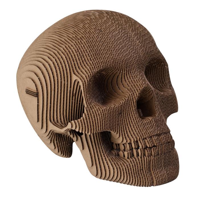 this isn't happiness™ (Build your own), Peteski #sculpture #cardboard #design #art #slices #diy #skull
