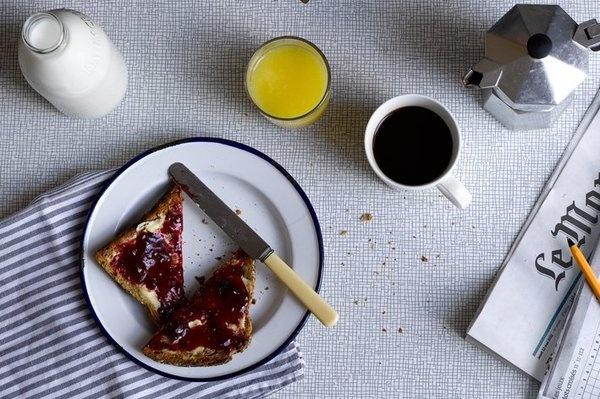 Milk #plate #breakfast #food #coffee #juice #milk