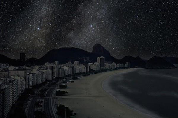 Dark Rio de Janeiro beach landscape night photography #photos #photographic #photograph #exhibition #photography #landscapes