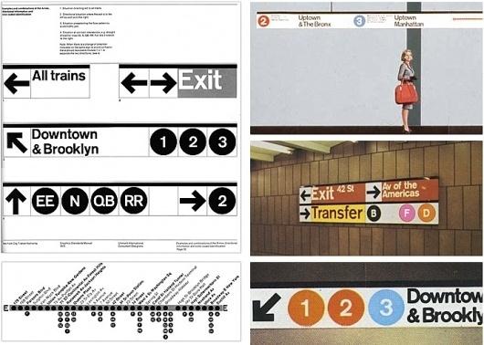 New York City Subway Design by Massimo Vignelli and Bob Noorda