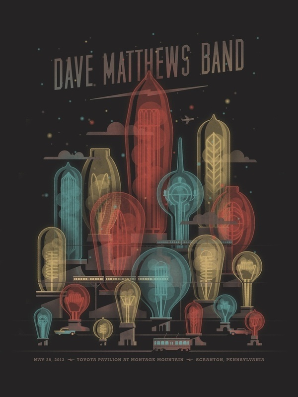 Dave Matthews Band poster by DKNG #print #design #graphic #poster