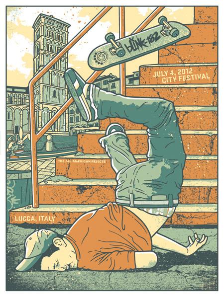 GigPosters.com Blink 182 #skateboarding #poster