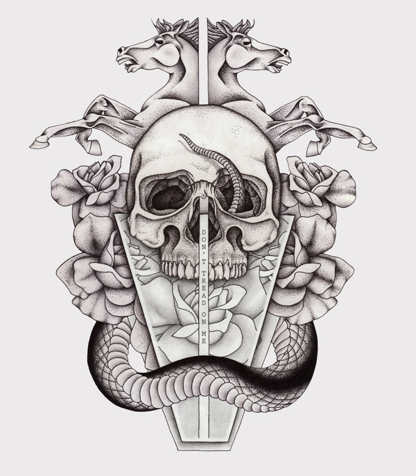 Tread #horse #tail #rose #ba #snake #glass #dots #ck #skull