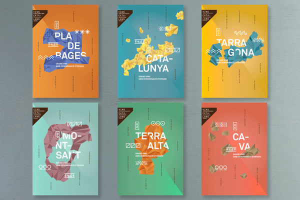Vins Catalans #spain #shapes #wine #colors #triangles