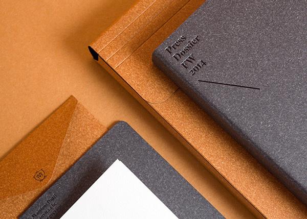 MASSIMO DUTTI F/W 014-015 PRESS DOSSIER on Behance #envelope #folder #emboss #foil #packaging