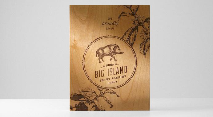 Big Island Coffee Roasters #coffee #wood #signage #seal