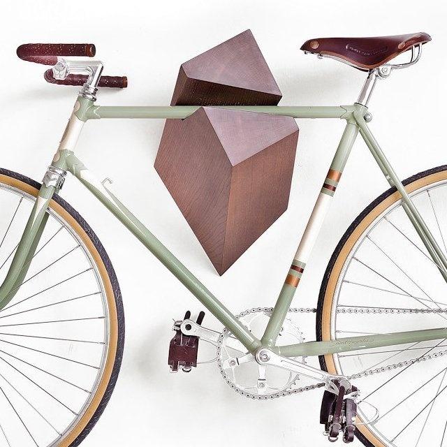 Oak Wood Bike Hanger by Woodstick #tech #flow #gadget #gift #ideas #cool