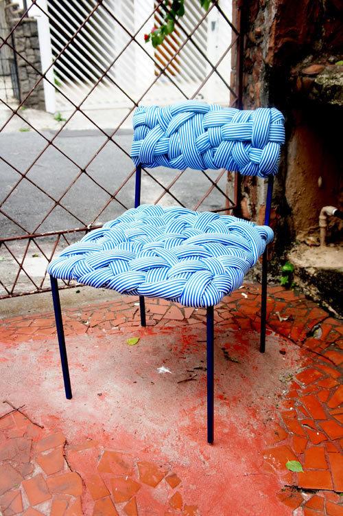 Colorful, Tactile Furniture by Humberto da Mata Photo #chair #textile #woven