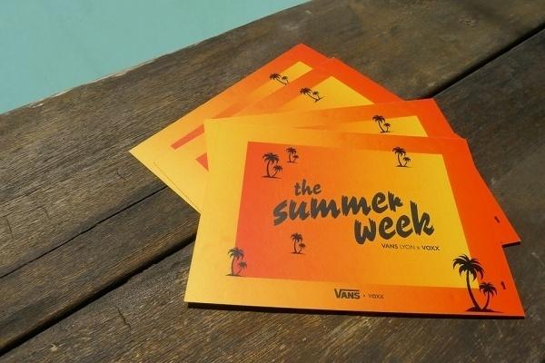 VANS SUMMER WEEK - adb #summer #flyer #vans #poster