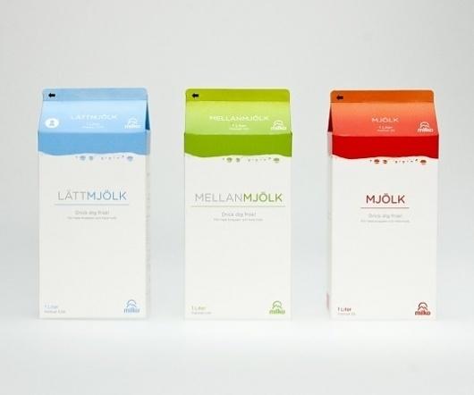 Student Work – Broby Grafiska School of Communication : Lovely Package – Curating the very best packaging design #packaging #milk #branding