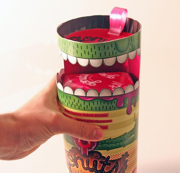 Gonuts!® Donut Packaging Design on Behance #packaging #illustration