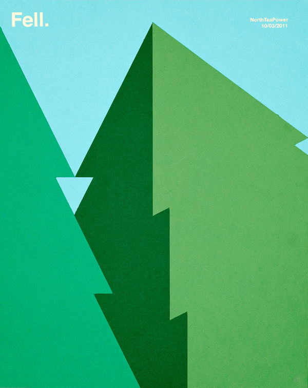 Rob Bailey | NorthTeaPower #illustration #trees #fell #green
